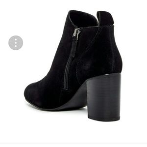 14th & union black suede zipper boot